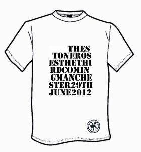 MENS THE STONE ROSES `THE THIRD COMING MANCHESTER 29TH JUNE 2012` T-SHIRT.
